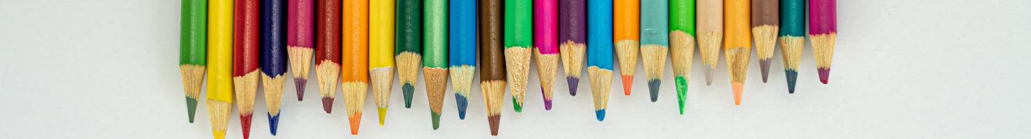 Buntstifte als Schreibgerät