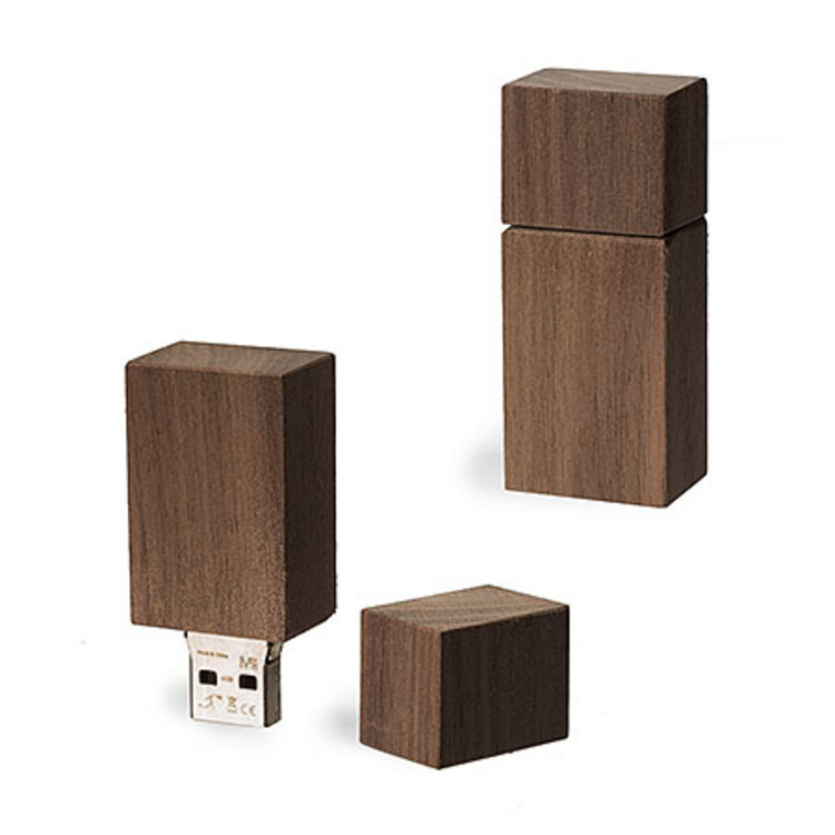 USB Stick Timber Nussbaum, 4 GB