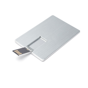 USB  Stick  Metall Card, 2 GB