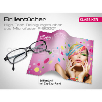 Brillenputztuch 4c ,18 x 15 cm  Made in Germany