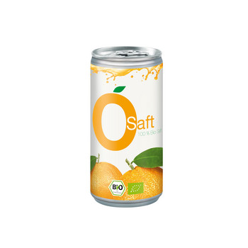 Bio Orangensaft, 200 ml Aludose, Smart Label